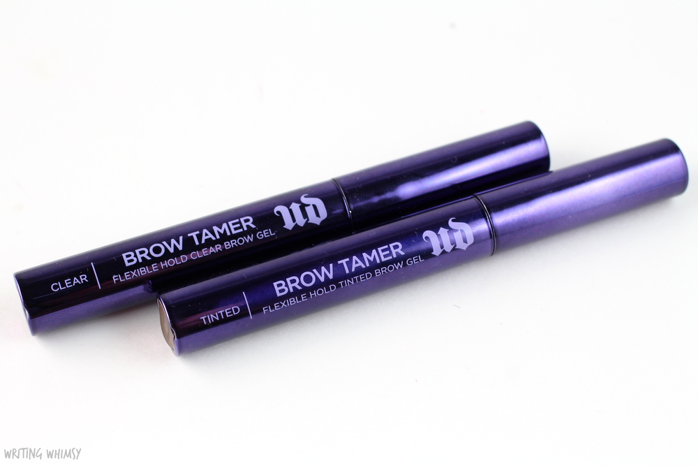 Urban Decay Brow Tamer in Dark and Clear Swatches 2