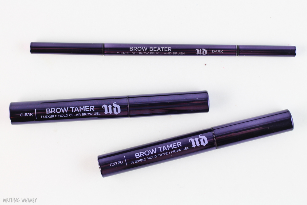 Urban Decay Brow Tamer in Dark and Clear Swatches 4