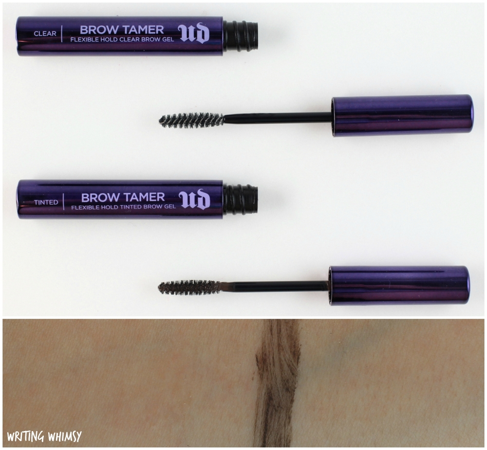 Urban Decay Brow Tamer in Dark and Clear Swatches