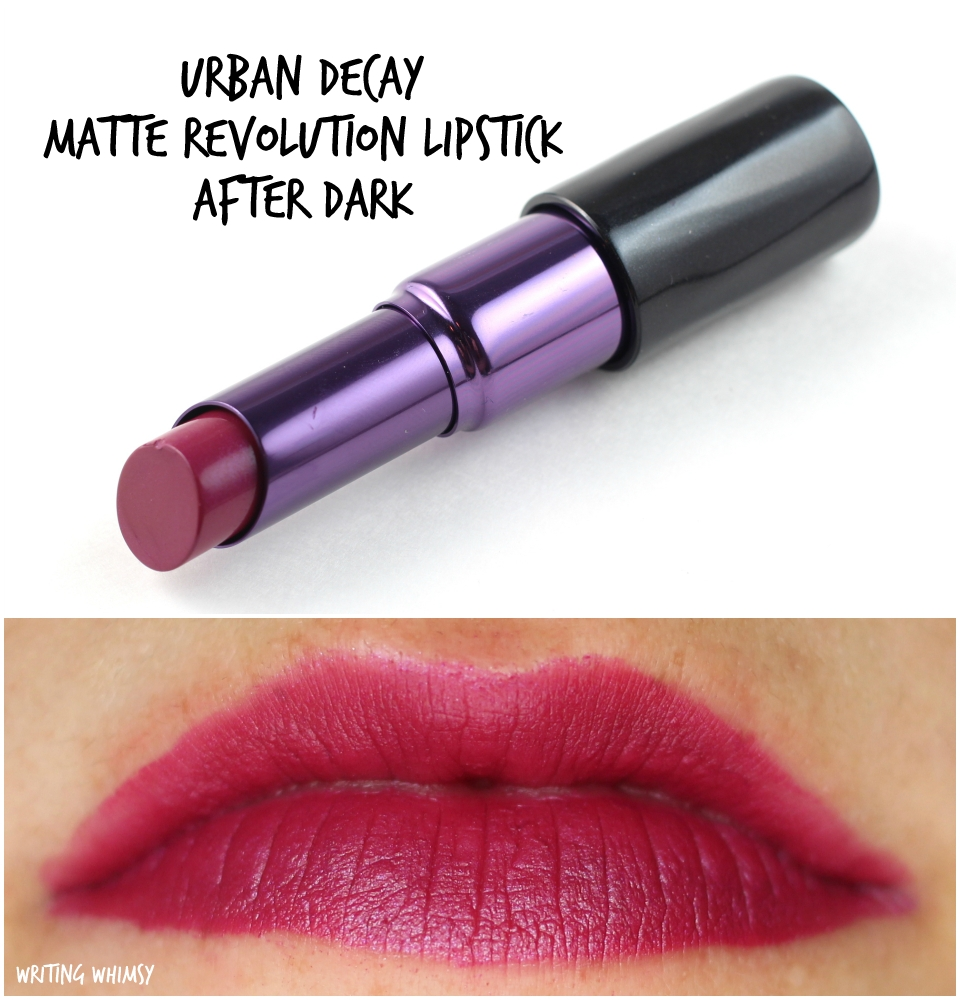 Urban Decay Matte Revolution Lipstick After Dark Swatches