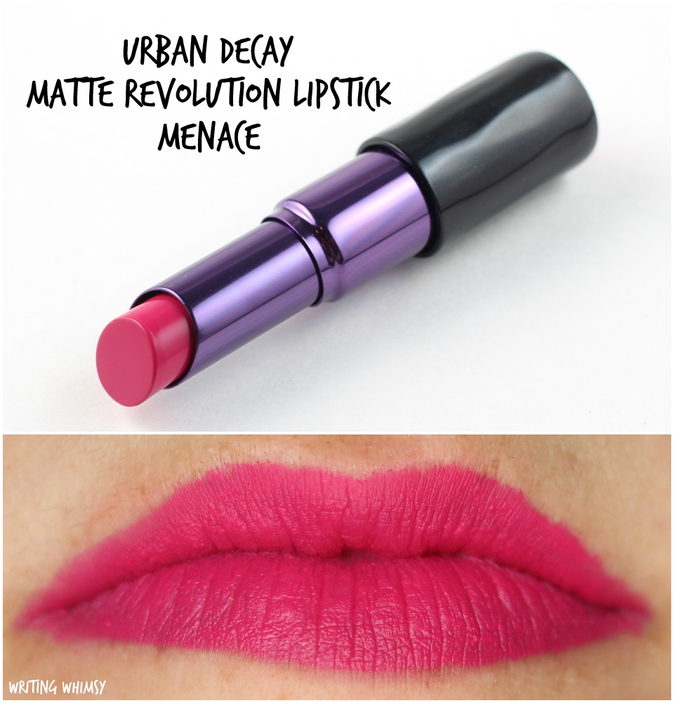 Urban Decay Matte Revolution Lipstick Menace Swatches