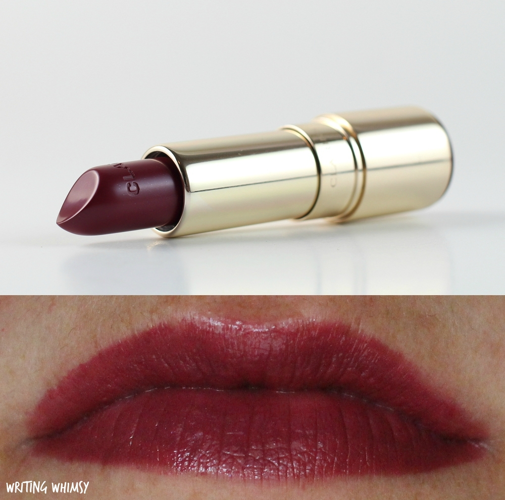 1-Clarins Joli Rouge Lipstick in Soft Plum Swatch 3