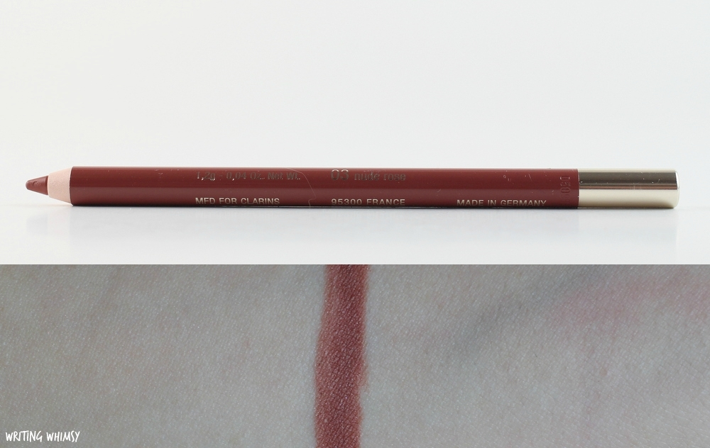 1-Clarins Lipliner Pencil in Nude Rose Swatch