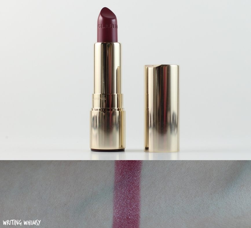 Clarins Joli Rouge Lipstick in Soft Plum Swatch