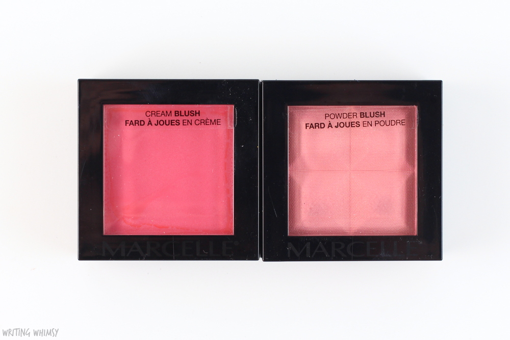 Marcelle Monochromatic Blush in Coral Swatches 2