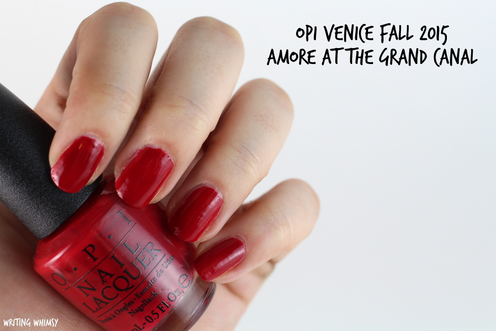OPI Amore at the Grand Canal Swatches