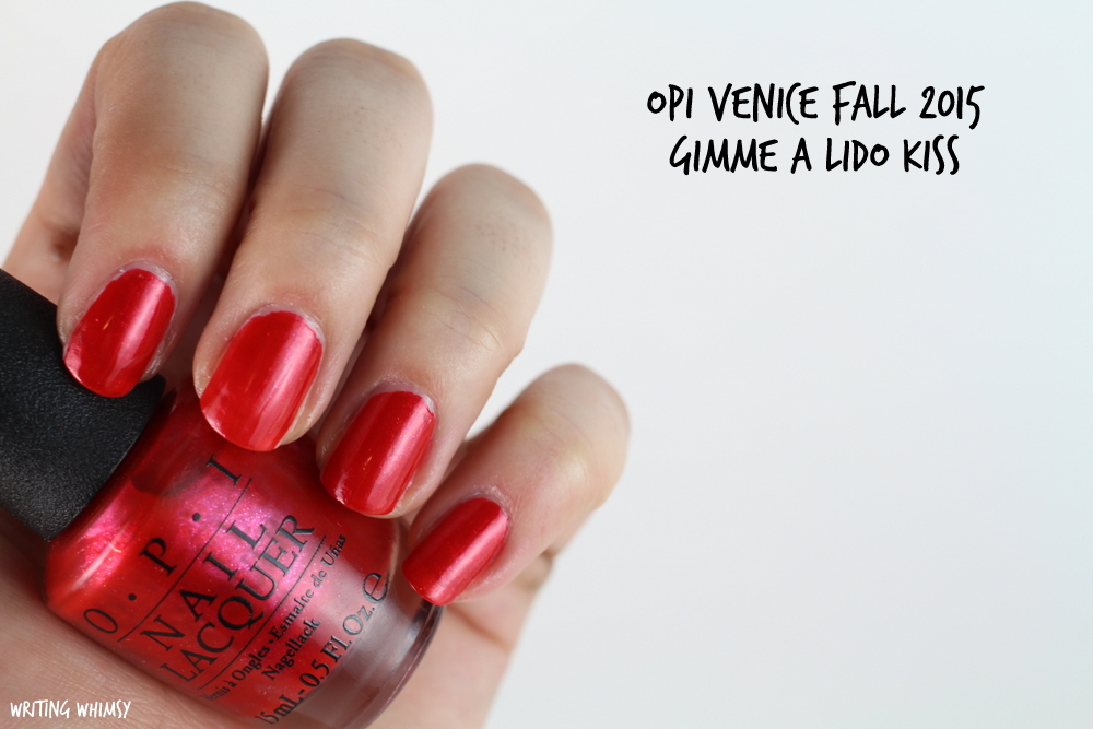 OPI Gimme a Lido Kiss Swatches