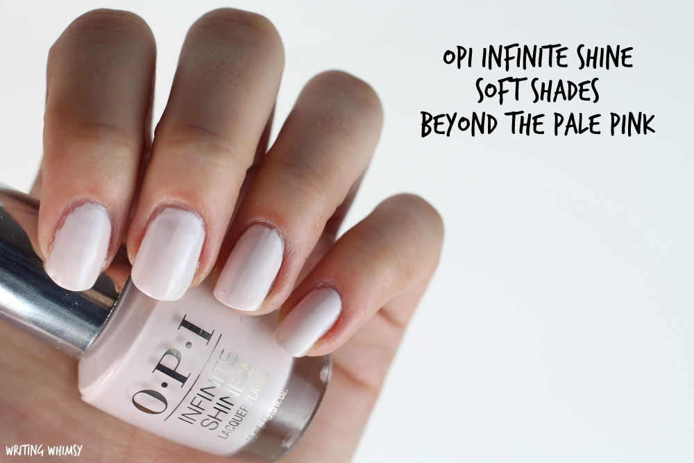 OPI Infinite Shine Beyond the Pale Pink Swatches