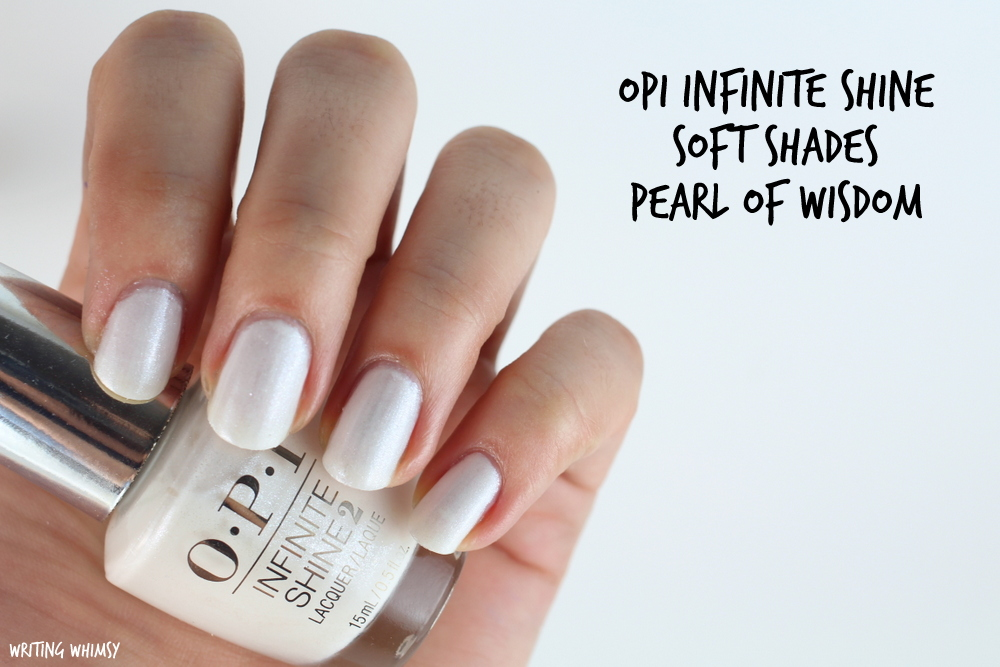 OPI Infinite Shine Pearl of Wisdom Swatches