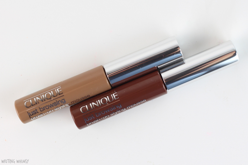 Clinique Just Browsing Brush-On Styling Mousse in Light Brown Swatch