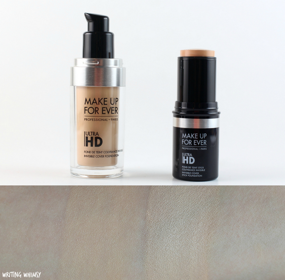 Make Up For Ever UltraHD Invisible Cover & Stick Foundation in Y225 Swatches