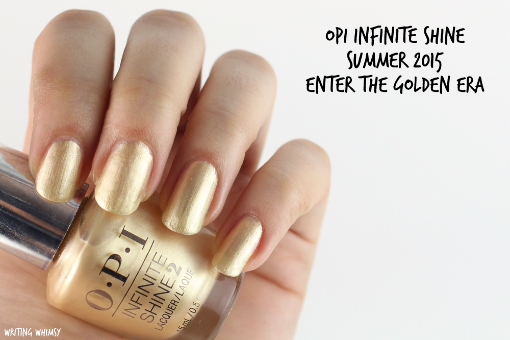 OPI Infinite Shine Enter The Golden Era Swatch