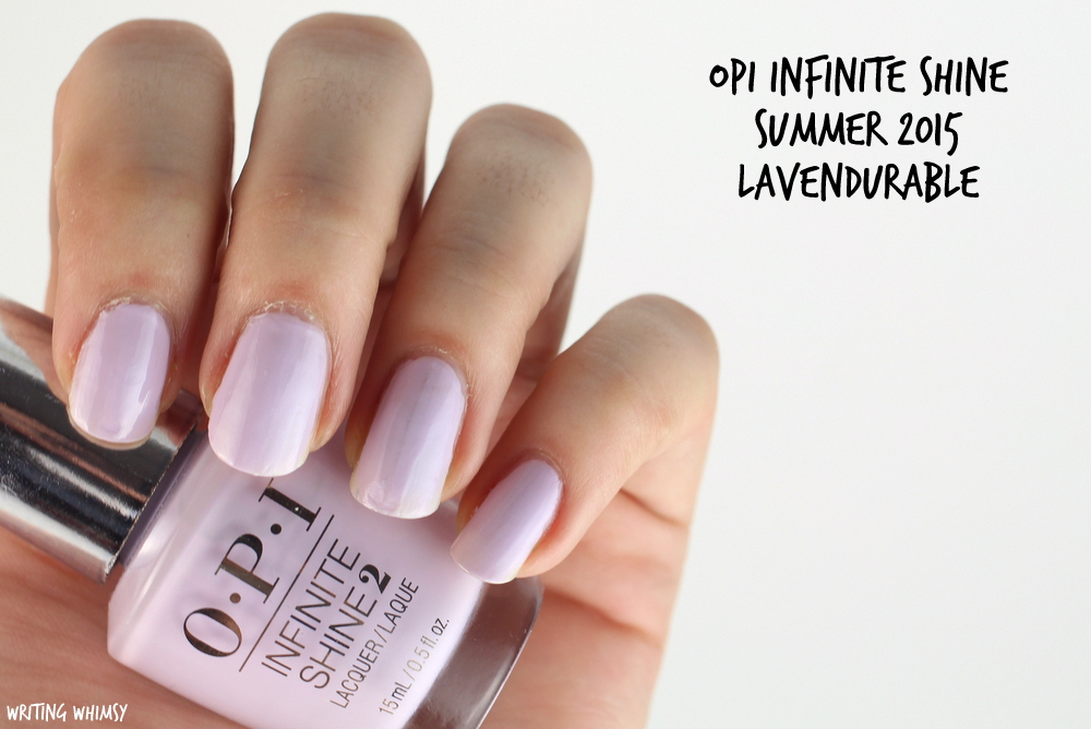 OPI Infinite Shine Lavendurable Swatch