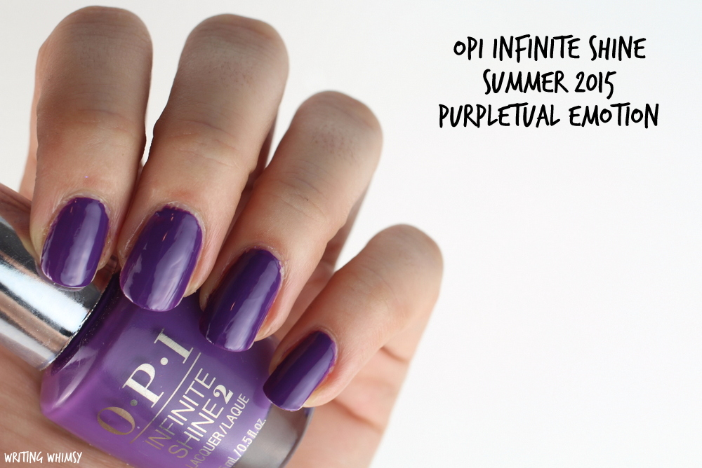 OPI Infinite Shine Purpletual Emotion Swatch