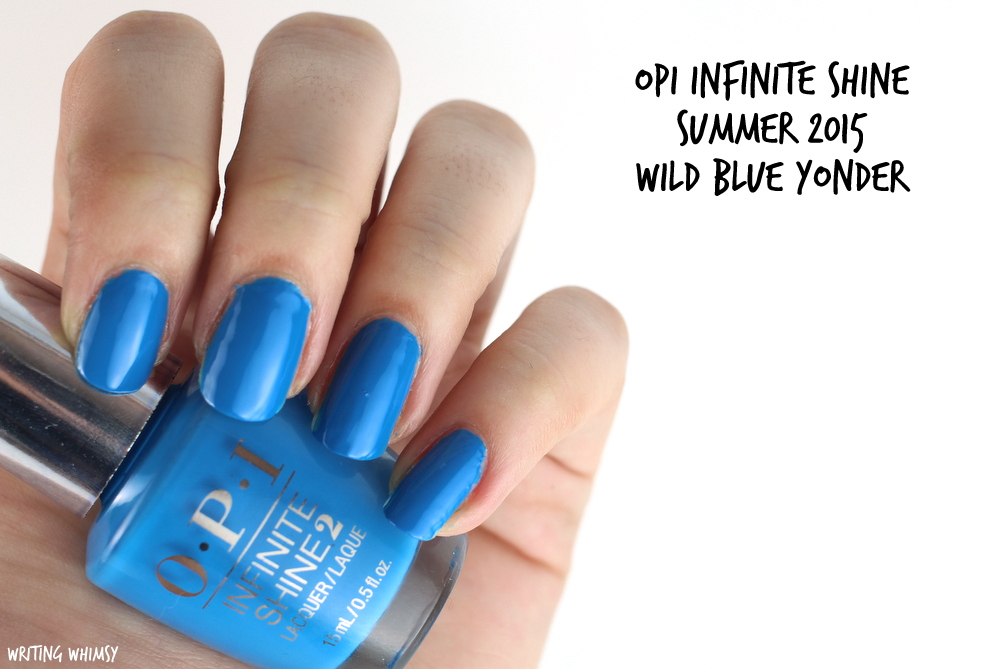 OPI Infinite Shine Wild Blue Yonder Swatch