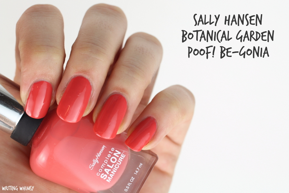 Sally Hansen Poof Be-Gonia Botanical Gardens Collection Summer 2015