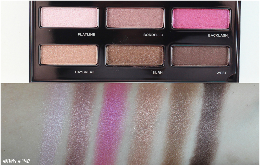Urban Decay Spectrum Palette Swatches 2