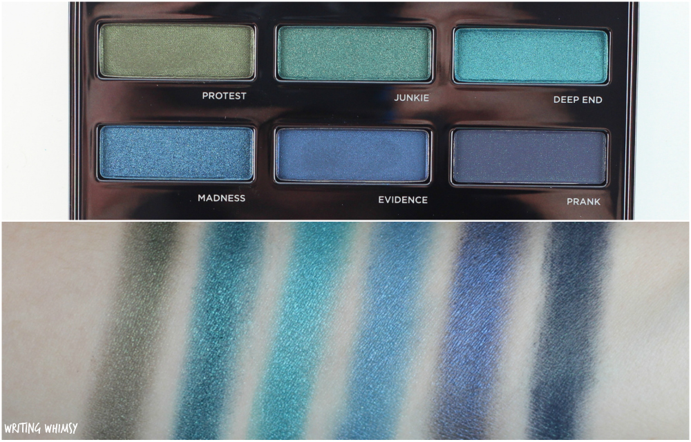 Urban Decay Spectrum Palette Swatches