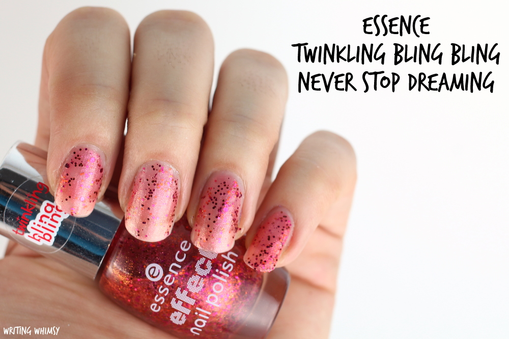 essence twinkling bling bling never stop dreaming 17 swatches