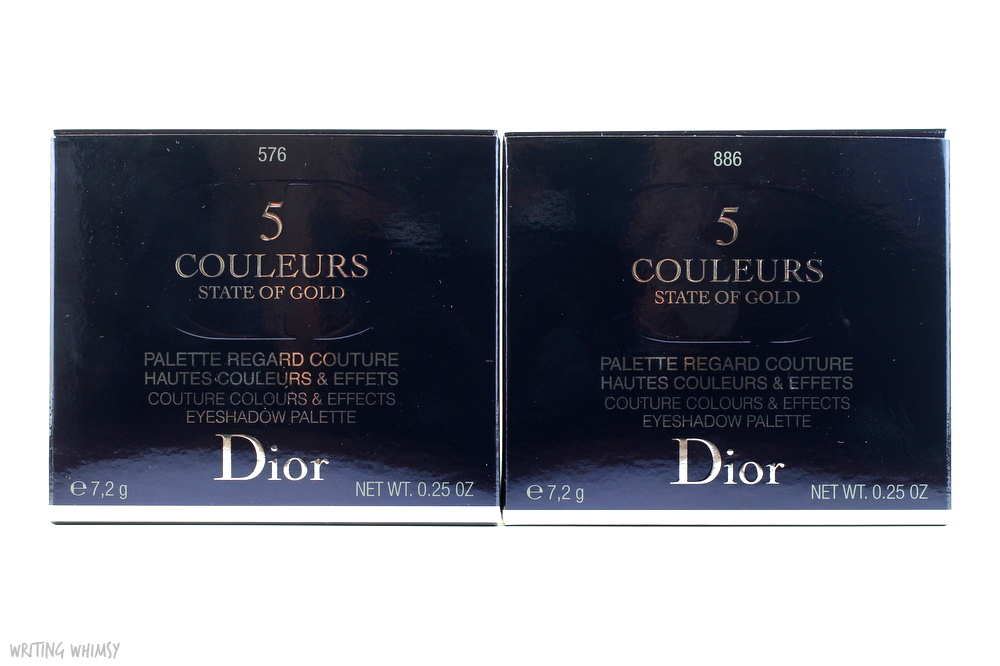 Dior 5 Couleurs State of Gold Eyeshadow Palettes in 886 Blazing Gold Swatches 4