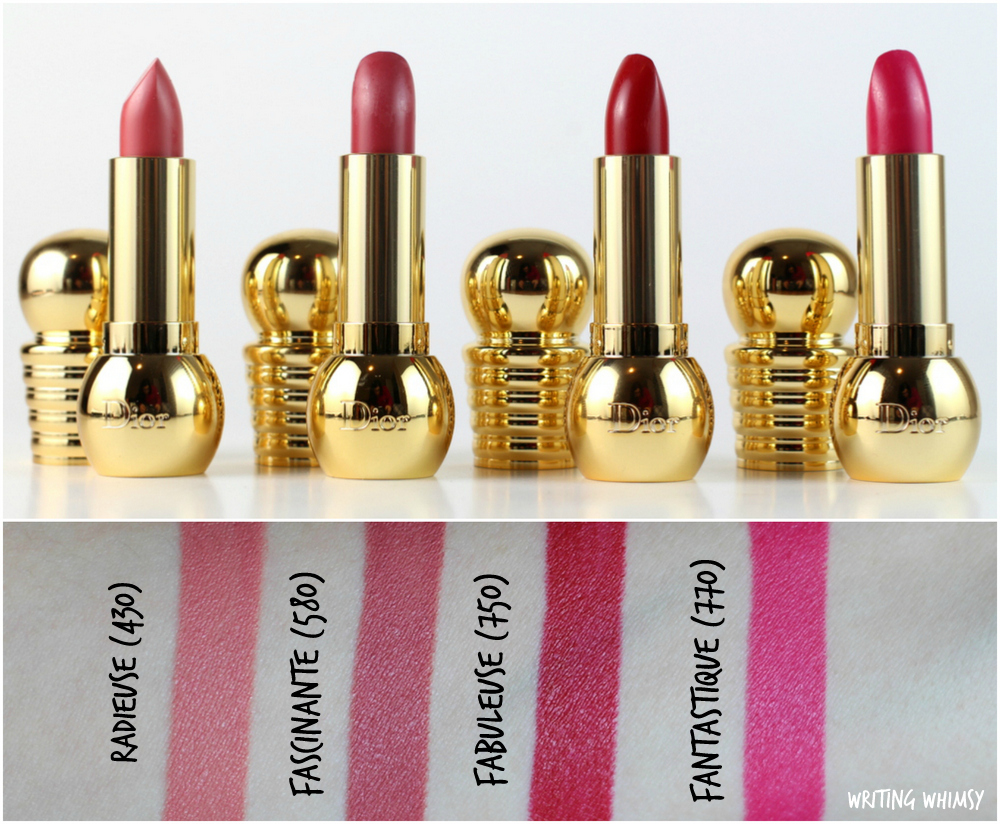 Dior Holiday 2015 Diorific Mat Velvet Colour Lipsticks Swatches & Review