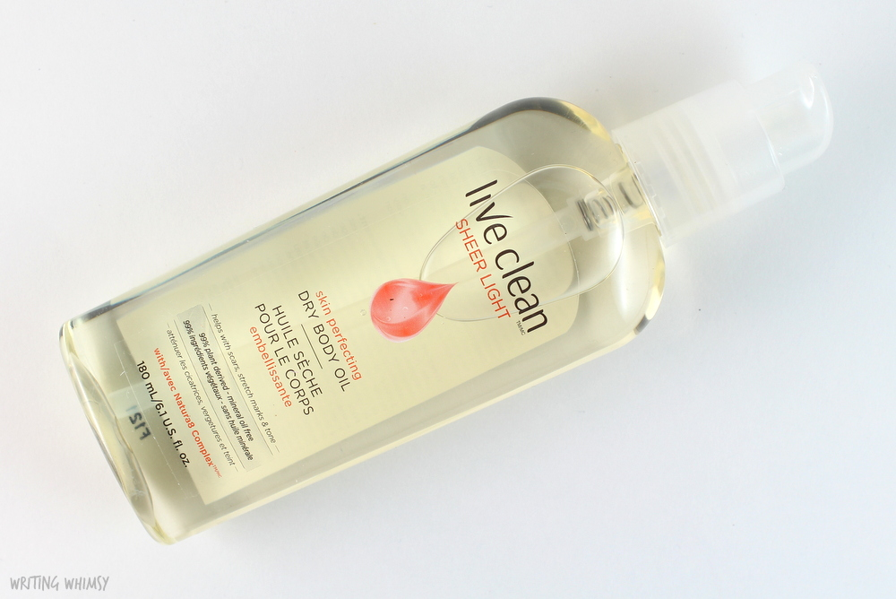 Live Clean Sheer Light Skin Perfecting Dry Body Oil Review 3
