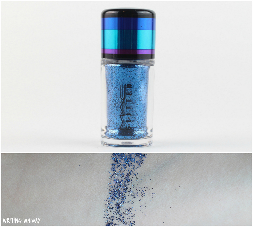 MAC Irresistibly Charming Pigments and Glitter in Blue Swatches MAC Blues Glitter