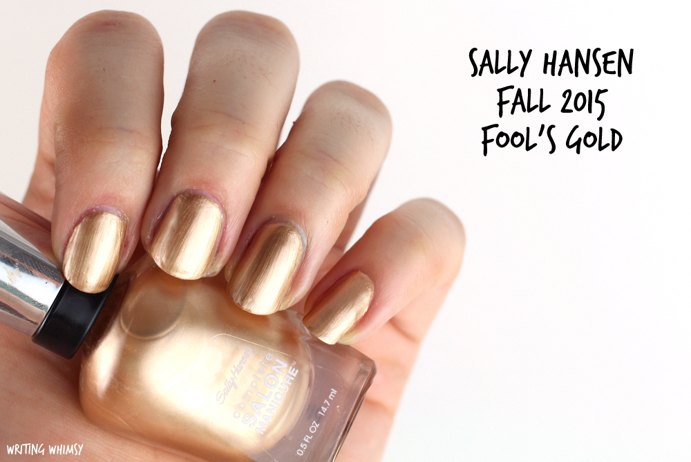 Sally Hansen Fool's Gold Swatch Sally Hansen Complete Salon Manicure Fall 2015