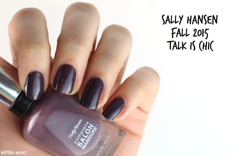 Sally Hansen Talk is Chic Swatch Sally Hansen Complete Salon Manicure Fall 2015