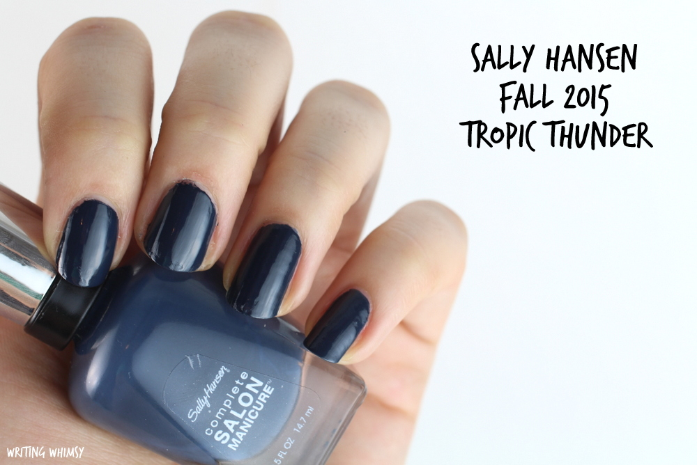 Sally Hansen Tropic Thunder Swatch Sally Hansen Complete Salon Manicure Fall 2015