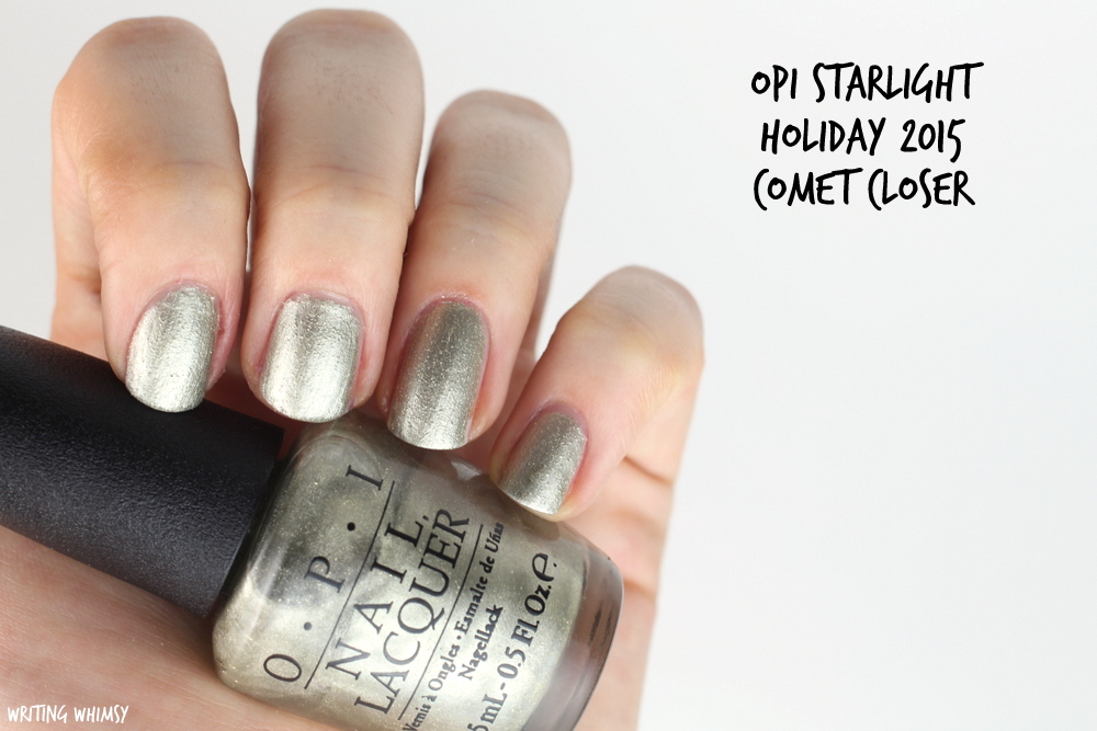 OPI Starlight Holiday 2015 OPI Comet Closer Swatch