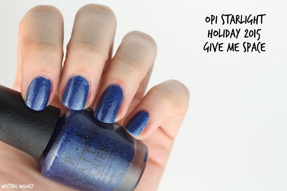 OPI Starlight Holiday 2015 OPI Give Me Space Swatch
