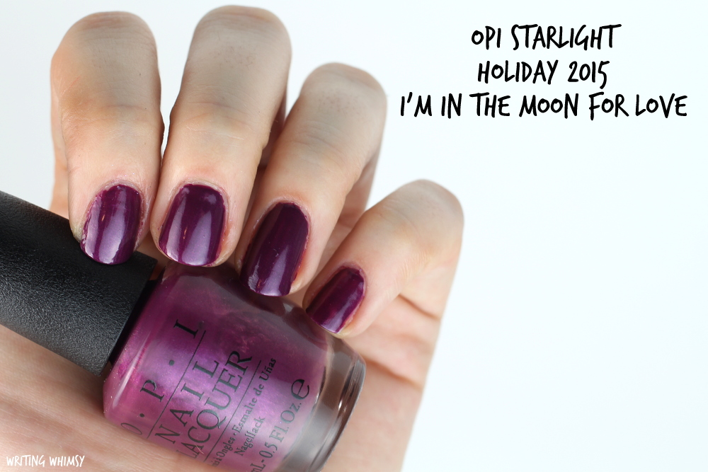 OPI Starlight Holiday 2015 OPI I'm In the Moon For Love Swatch