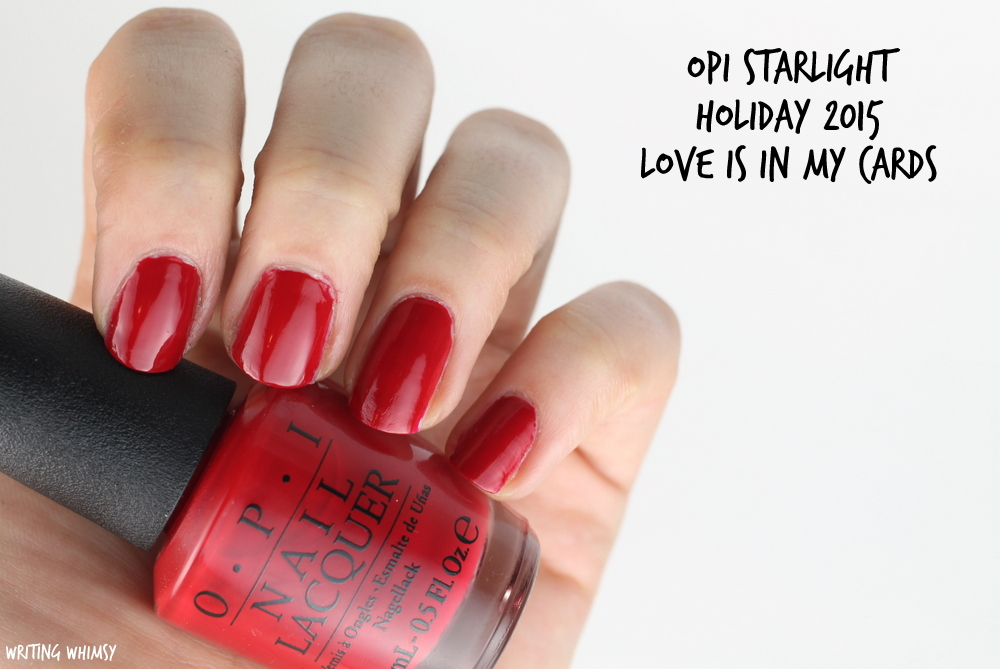 OPI Starlight Holiday 2015 OPI Love is in My Cards Swatch