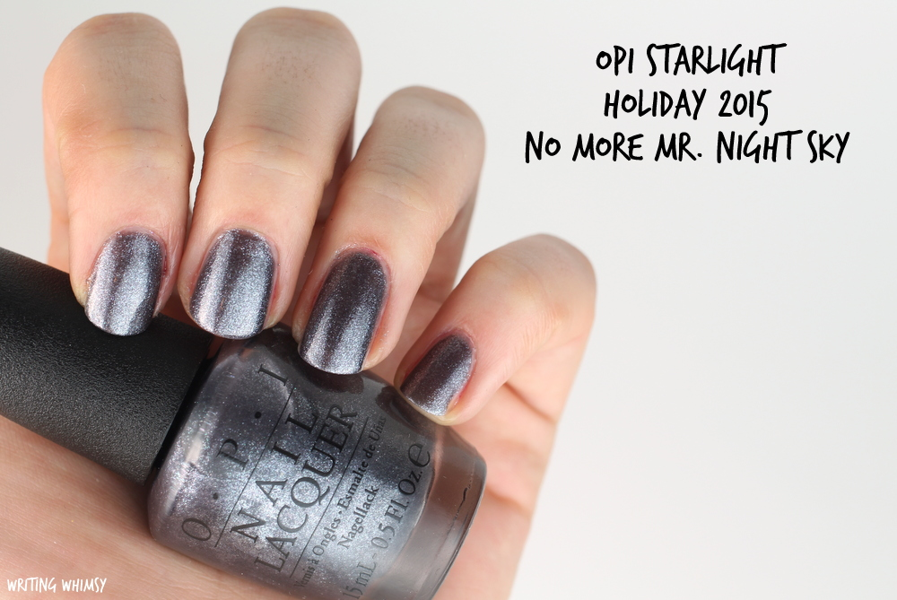 OPI Starlight Holiday 2015 OPI No More Mr. Night Sky Swatch