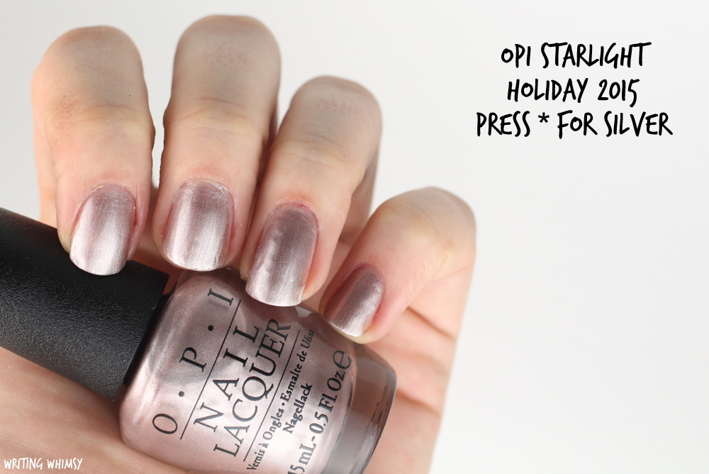 OPI Starlight Holiday 2015 OPI Press * for Silver Swatch
