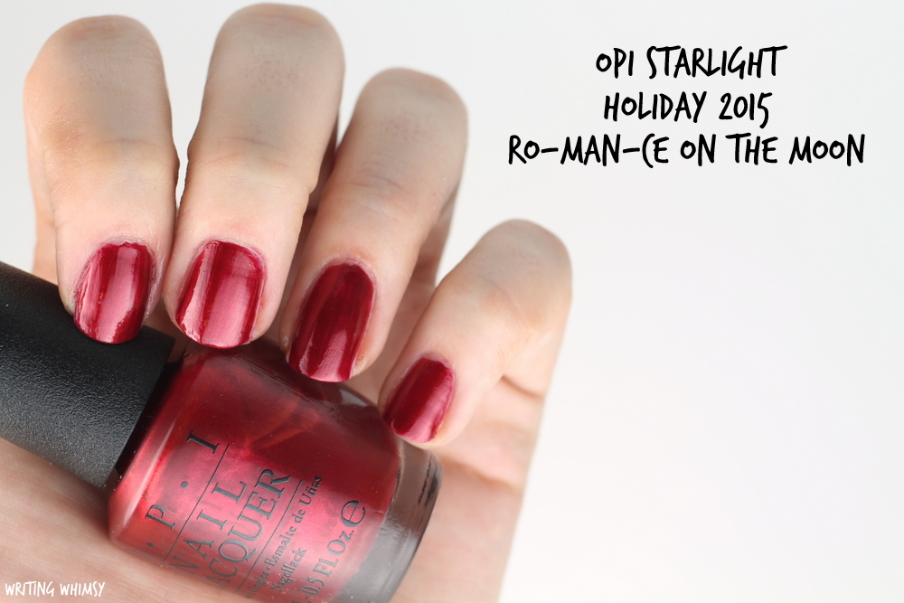 OPI Starlight Holiday 2015 OPI Ro-Man-Ce on the Moon Swatch