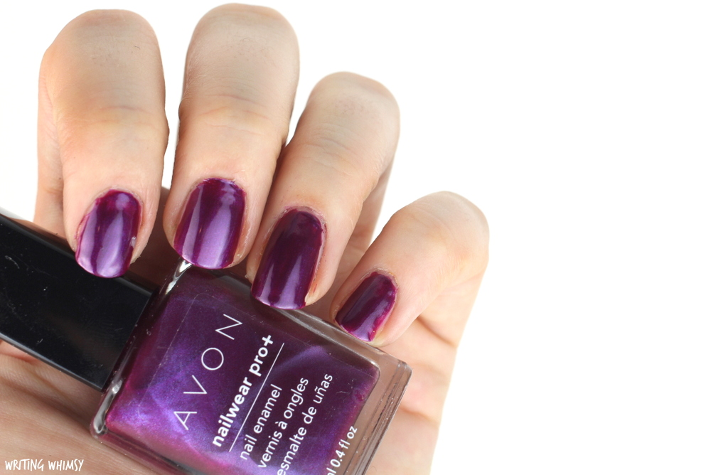 Avon Nailwear Pro+ Nail Enamel in Decadence Swatches + Review
