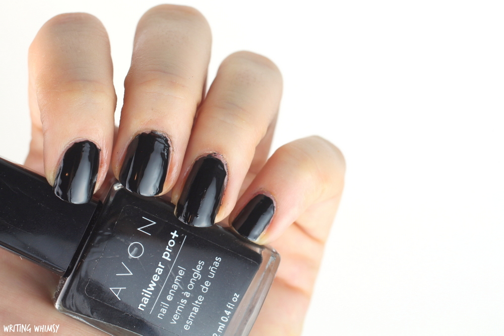 Avon Nailwear Pro+ Nail Enamel in Licorice Swatches + Review