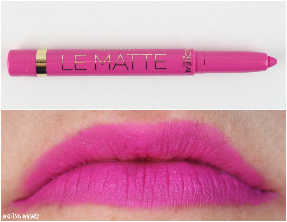 L'Oreal Le Matte Full Coverage Lipcolour Swatches 100 Matte for Me Swatches