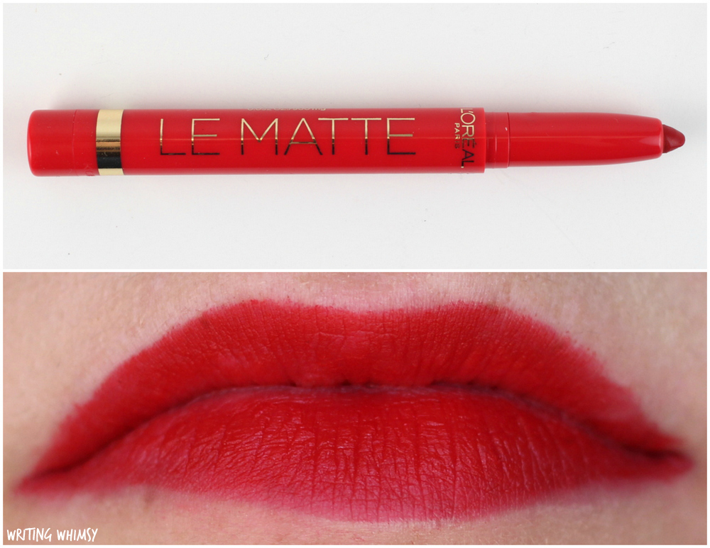 L'Oreal Le Matte Full Coverage Lipcolour Swatches 106 Mad for Matte Swatches