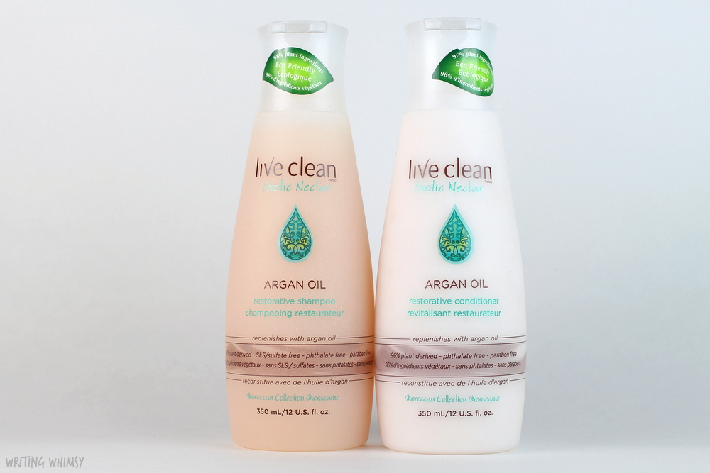Live Clean Argan Oil Restorative Shampoo and Conditioner Review 3