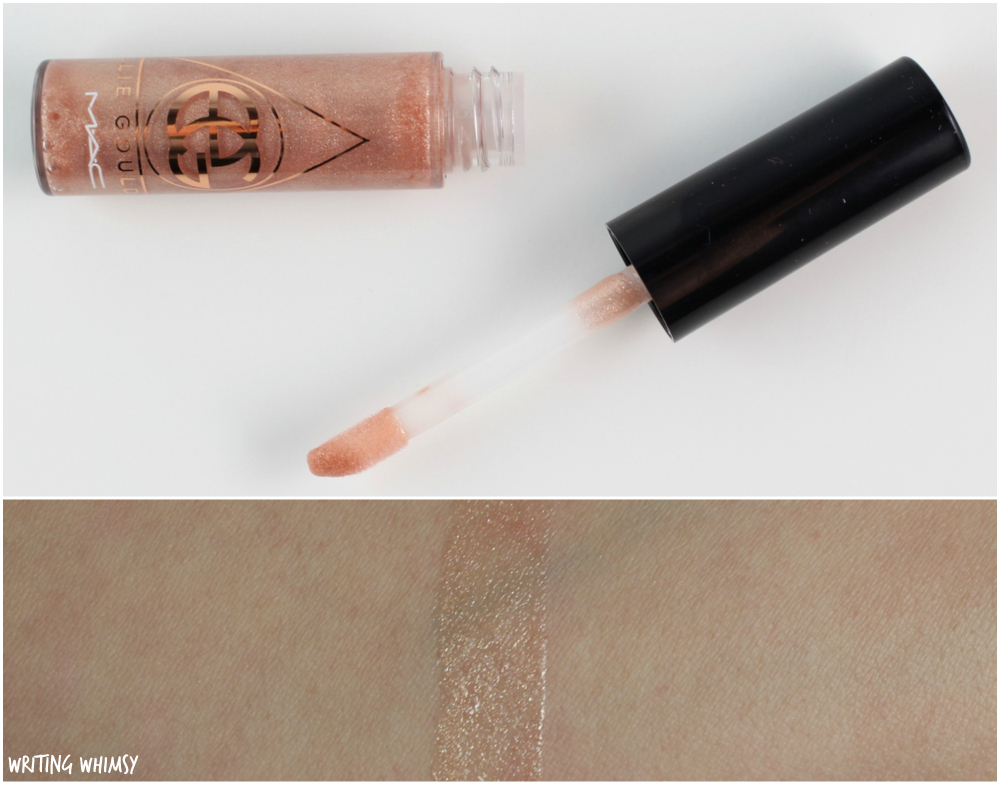 MAC Ellie Goulding Plushglass in Explosion Swatches and Review