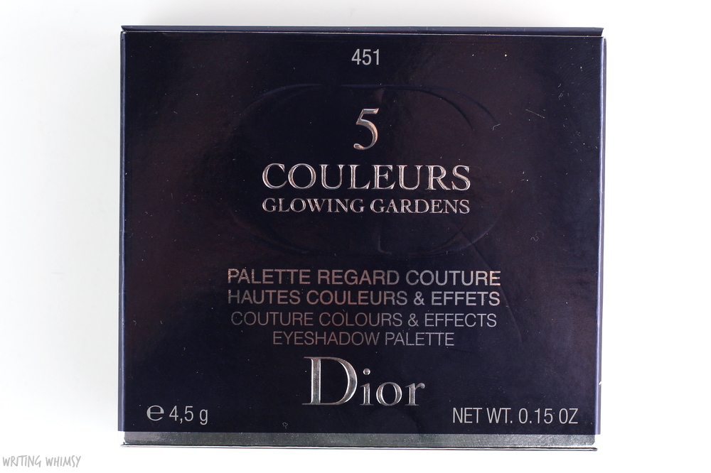 Dior 5 Couleurs Glowing Gardens Eyeshadow Palette in Rose Garden (451) Swatches + Review 3