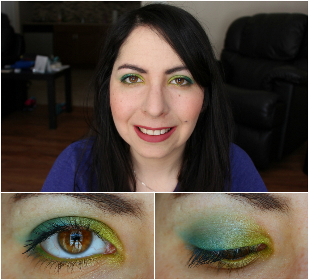 Kat Von D Metal Crush Eyeshadow in Electric Warrior Swatch 2