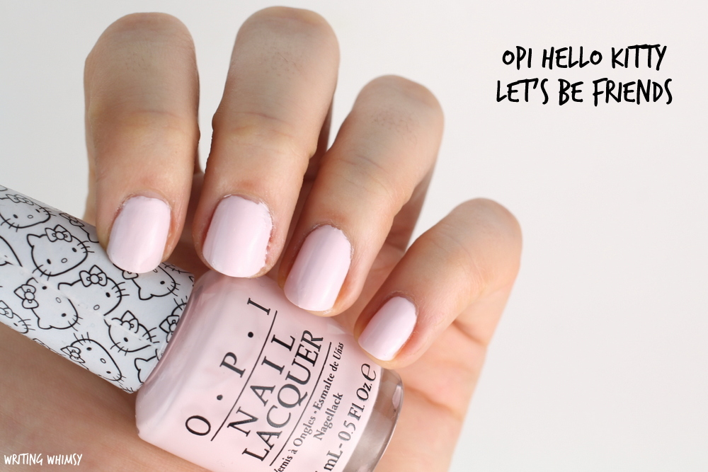 OPI Hello Kitty Let's Be Friends Swatch