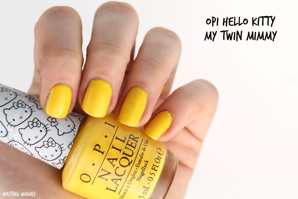 OPI Hello Kitty My Twin Mimmy Swatch