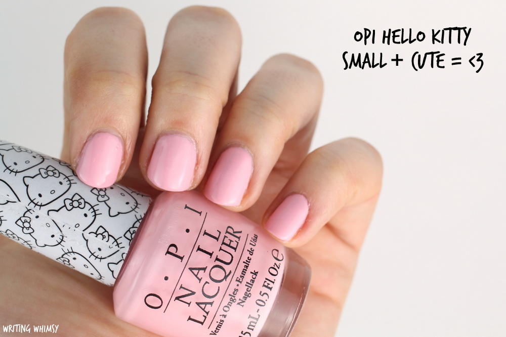 OPI Hello Kitty Small + Cute = <3 Swatch