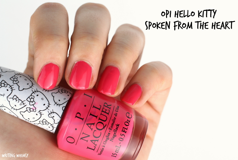 OPI Hello Kitty Spoken from the Heart Swatch