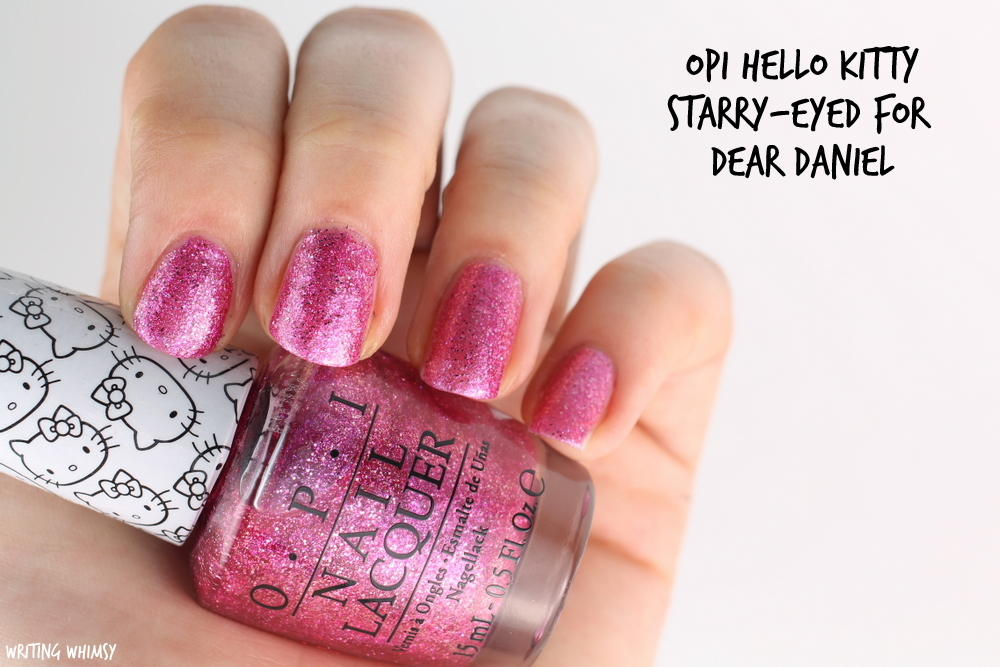 OPI Hello Kitty Starry-Eyed for Dear Daniel Swatch